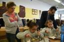 El Consell Comarcal del Tarragonès visita el menjador de l'escola Tarragona amb motiu de l'implantació de l'alimentació ecològica i els productes de proximitat.