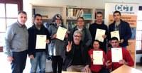"""Lliurament de 34 certificacions""""Coneixement de la societat catalana i el seu marc jurídic"""" (Mòdul C) i """"Coneixement laboral"""" (Mòdul B) a inmigrants."""