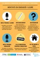 NOVETATS INFORMATIVES DEL SERVEI COMARCAL DE JOVENTUT SOBRE EDUCACIÓ I LLEURE
