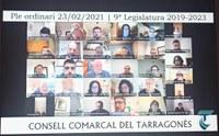 SESSIO PLENÀRIA DEL CONSELL COMARCAL DEL TARRAGONÈS 23 DE FEBRER DE 2021