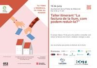 """TALLER ITINERANT: """"LA FACTURA DE LA LLUM, COM PODEM REDUIR-LA?"""""""