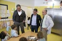 Visita al menjador de l'Escola Tarragona.
