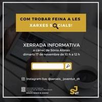 XERRADA INFORMATIVA: COM TROBAR FEINA A LES XARXES SOCIALS!